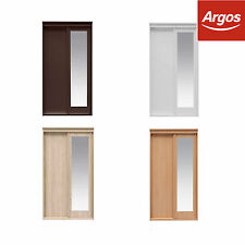 The Collection at Argos Hallingford 2Dr Sliding Wooden Wardrobe-Choice of Colour
