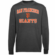 San Francisco Giants Majestic Heart and Soul Long Sleeve T-Shirt - Gray