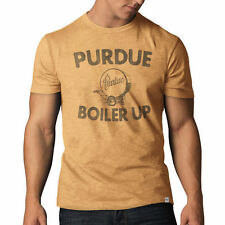 Purdue Boilermakers '47 Team Lettering Distressed Vintage Scrum T-Shirt - Gold
