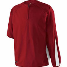 Holloway Sportswear Conversion Pullover Jacket in Scarlet/White - Pick your size
