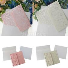 10pcs Laser Cut Hollow Invitation Cards Wedding Party Gatefold Cards Pink/Cream