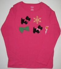 Gymboree Cheery All the Way Top 7 New Pink Scottie Dog Shirt Girls Winter Twins