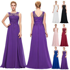 GK Long Elegant Appliques Chiffon Gown Evening Prom Party Dress Size 2-24 Formal