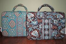 Vera Bradley JAVA BLUE or TOTALLY TURQ Travel Computer Work LAPTOP PORTFOLIO