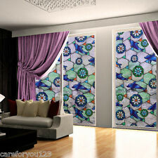 45*100cm Static Cling Cover Stained Window Film Glass Privacy DIY Home Decor
