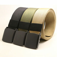 Men's Outdoor Sports Military Tactical Nylon Waistband Canvas Web Belt casual
