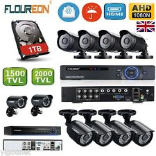 4CH/8CH AHD DVR 1500TVL/2000TVL Outdoor Camera CCTV Security System Kit 1TB HDD