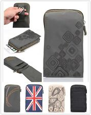 """5.7"""" Multi-functional Zip Casual Belt Clip Climbing Sports Bag Phone Pouch Case"""