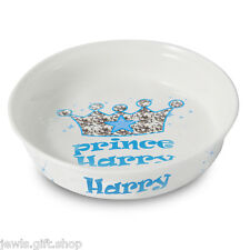 personalised pet bowl Prince blue or Princess pink Dog or Cat Add pets Name