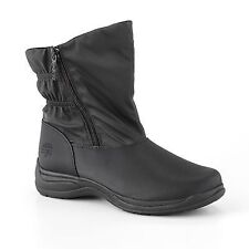 new  Women Totes Kim Black Waterproof Thermolite Winter Snow Boots