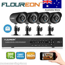 4CH/8CH HDMI DVR 900TVL-1500TVL Outdoor CCTV Video Camera Home Security System