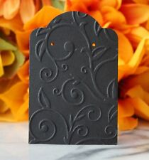 """2""""x3"""" Embossed Black Earring Display Jewelry Retail Cards - Lot 10, 20, 50 & 100"""