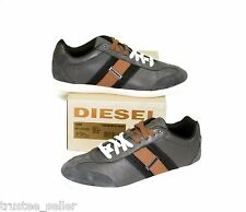 DIESEL Brand Men Lounge Olive Orange Leather Casual Sport Shoes Sneakers in Box