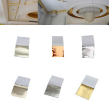 500 Sheets Gold Leaf Gilding Silver Foil Paper for Home Ceiling Wall Decoration