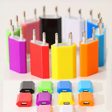 EU Plug USB AC Power Wall Charger Charging Travel Adapter for iPhone Samsung HTC