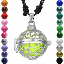 Locket Bottle Pendant Harmony Ball Aromatherapy Angel Caller Flower Necklace