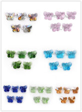 Bulk 14mm Faceted Glass Crystal Butterfly Beads Loose Spacer Bead Findings Hot