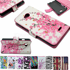 Men Women Flip PU Leather Wallet Stand Phone Case Cover For LG Optimus Phones