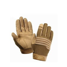 Coyote Brown Padded Knuckle Police Airsoft Paintball Military Tactical Gloves