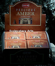 Hem Precious Amber Incense 10-20-50-100-120 Cones U Choose Amount {:-)