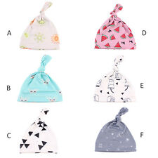 Newborn Infant Toddle Baby Knotted Cap Boy Girl Organic Cotton Beanie Knot Hat