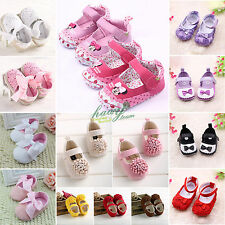 Baby Toddler Girl Crib Bowknot Infant Soft Sole Walking Shoes 0-18M Non-slip New