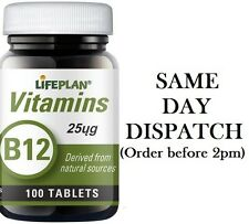 LIFEPLAN VITAMIN B12 25ug 100 TABLETS MULTIBUY SAVINGS