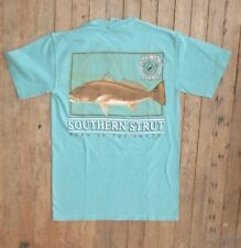 Southern Strut Spottail Bass Born In The South Cotton Short Sleeve T Shirt