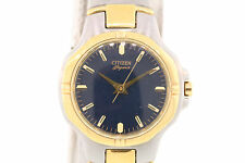 Ladies Citizen Elegance Signature Two-Tone Stainless Steel Black Dial Watch