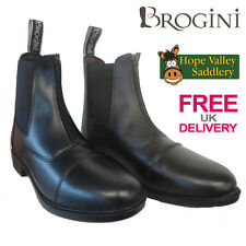 Brogini Front Zip Leather Jodhpur Boot Paddock Boots (404) **FREE UK DELIVERY**