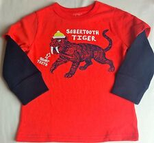 NWT BABY GAP BOYS TOP SHIRT  sabertooth tiger  embroidered   u pick size