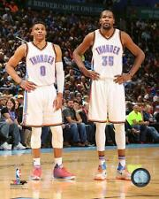 Kevin Durant & Russell Westbrook Thunder NBA Action Photo ST029 (Select Size)