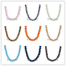 Bulk 20/100Pcs Faceted Rondelle Crystal Glass #5040 Loose Spacer Beads 83Colors