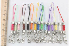 15color multicolor DIY Mobile Cell Phone cord Strap Lariat Lanyard Lobster Clasp