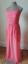 SALE!! New Look pink embroidered Maxi dress 8 10 12 14 rrp £25