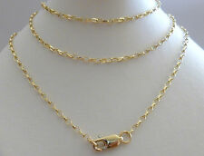 9ct 9k Solid Gold Belcher Chain Necklace Yellow White Rose 1.7mm N72 CUSTOM