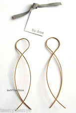 by boe NYC 14k Gold Filled TWISTED ARC Large 8 Figure Wire Dangle Earring NEW