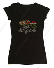 "Women's Rhinestone T-Shirt "" Wild about the Grinch "" S, M, L, XL,2X,3X Christmas"