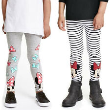 Autumn Winter Girls Mickey Minnie Mouse Pants Leggings Children Warm Pants