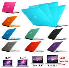 "Hard Rubberized Case+ Screen Protector for Macbook Air Pro Retina 11 12"" 13"" 15"""
