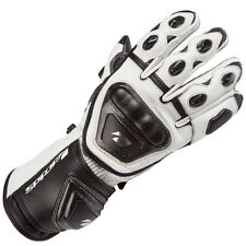 Spada Curve Leather Sport Race Motorcycle Gloves White