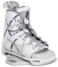 2006 LIQUID FORCE TRANSIT CW2 WHITE/GREEN MENS WAKEBOARD OPEN-TOE BINDINGS $269