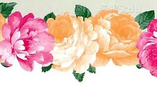 Cabbage Rose Large Roses Flower Scalloped Die Cut Out Edge Wall Wallpaper Border