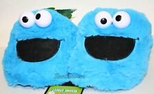 SESAME STREET COOKIE MONSTER Muppets plush ADULT Costume Slippers soft shoes S M