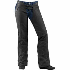Icon 1000 Hella Ladies Womens Motorcycle Motorbike Leather Chaps | All Sizes