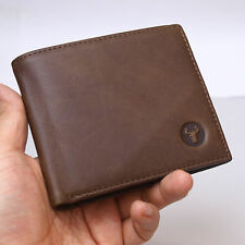 Vintage Retro Style Men's Leather Wallet Credit Card Purse Blue Mount
