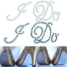 New CHIC Wedding Party Shoes Decoration I Do Me Too Acrylic Rhinestone Sticker