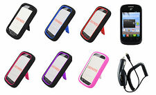 LCD + CC + Hybrid Cover Case for Straight Talk Tracfone ZTE Valet Z665C Phone