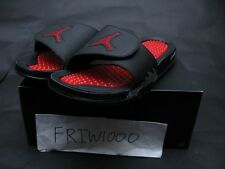 NIKE JORDAN HYDRO V RETRO SLIDE BLACK/FIRE RED/METALLIC SILVER 555501-012