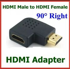 HDMI MALE TO FEMALE FLAT 90 Degree Right Angle Adapter Connector TV HD HDTV New